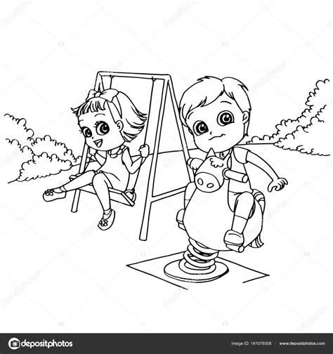 disegni di parco giochi bambini presso il fumetto di parco giochi per bambini da