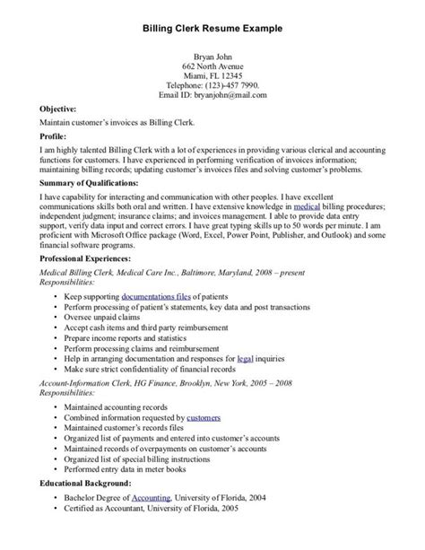 19 billing and coding description resume