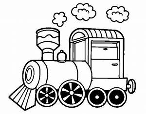 steam engine coloring pages - steam locomotive coloring page