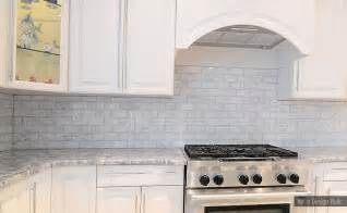 White Kitchen Backsplash Tile White Carrara Subway Backsplash Tile Backsplash
