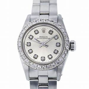Rolex Oyster Perpetual Diamond Dial and Bezel 67194 Ladies ...