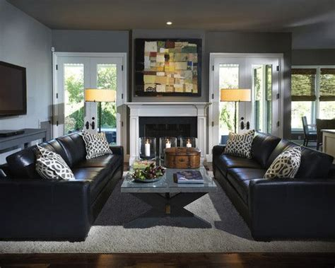 how to decorate around the black leather couch living