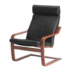po 196 ng chair glose black medium brown ikea