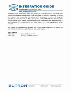 Integration Guide Accubar Barometric Pressure Sensor Manual