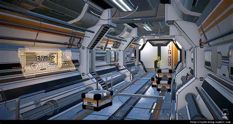 ArtStation - Futuristic Hallway, Maeva Bonhomme
