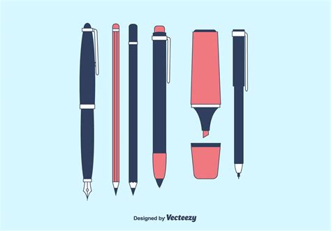 Writing Tools by Vector Writing Tools Collection Free Vector