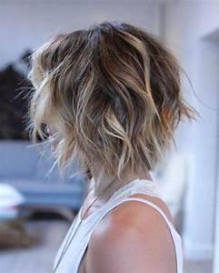 Carré Plongeant Avec Meche : balayage blond sur cheveux brun carre court ~ Louise-bijoux.com Idées de Décoration