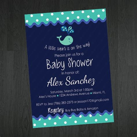 sample printable baby shower invitation templates