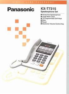 Kx-t7315 Manuals