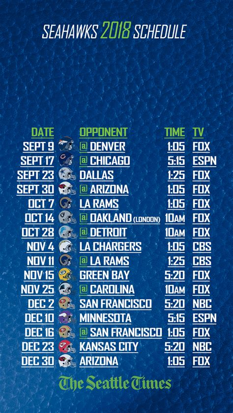 seahawks schedule   phone   lock