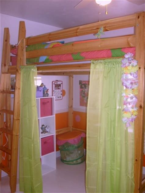 1000 ideas about loft bed curtains on bed