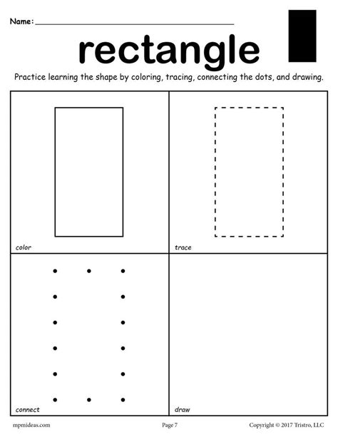 rectangle worksheet color trace connect draw supplyme
