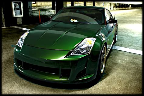 just got my car back from paint midnight pearl green my350z nissan 350z and 370z forum