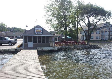 Cedar Lake Indiana Boat Launch by The Sandbar Grill Cedar Lake In