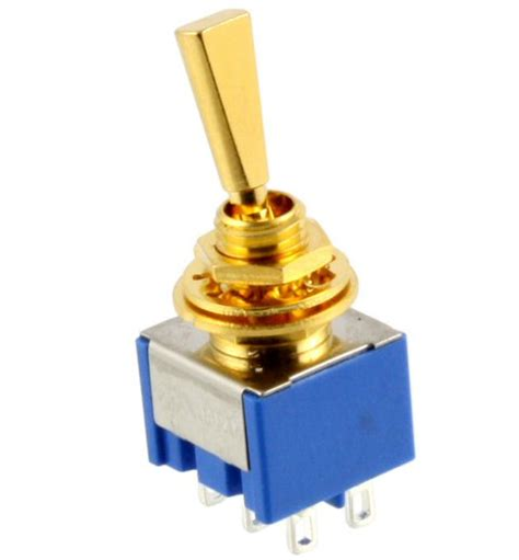 on on dpdt mini toggle switch gold ep 0082 002