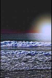 Beautiful beach at night time | beautiful | Pinterest