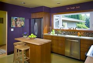 19 kitchen wall decor ideas designs design trends for What kind of paint to use on kitchen cabinets for purple and blue wall art