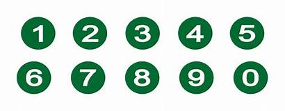 Numbers Number Circle Clipart Transparent Background Icons