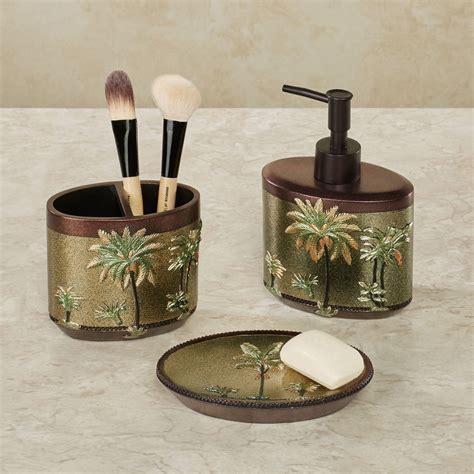 havana tropical palm tree bath accessories