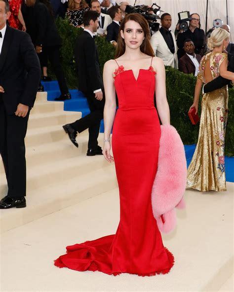 Emma Roberts | Red Dresses at the Met Gala 2017 | POPSUGAR ...