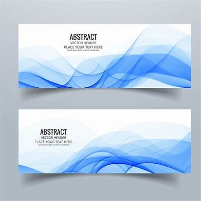 Vector Banners Shapes Abstract Wavy Banner Header