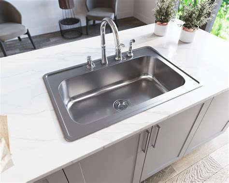 ust single bowl topmount stainless steel sink