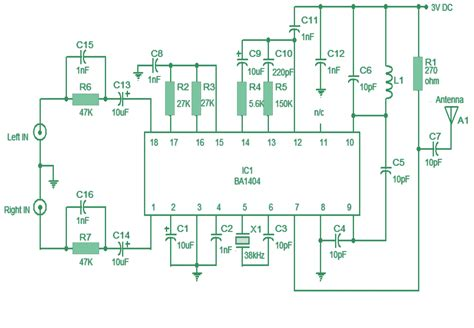 Simple Stereo Transmitter Circuit