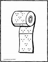 Toilet Toilette Paper Papier Roll Rol Rouleau Colouring Kleurplaat Coloriage Rolle Kiddicolour Toiletpapier Toilettenpapier Wc Kiddicoloriage Coloring Drawing Zum Eine sketch template