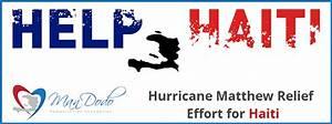 HURRICANE MATTHEW RELIEF EFFORT FOR HAITI – Man Dodo ...