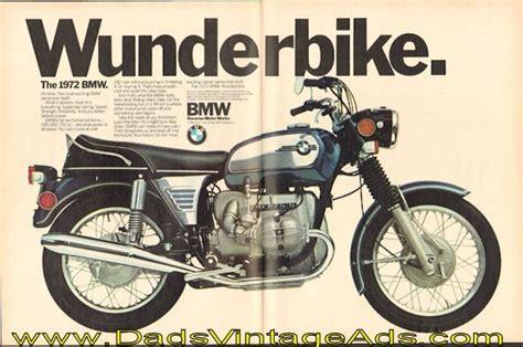 1972 Vintage Bmw Motorcycle Ad