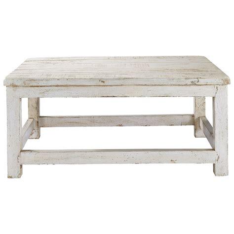 table cuisine bois blanc table basse en manguier blanc vieilli l 90 cm avignon