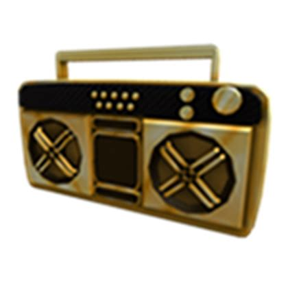 golden boombox roblox