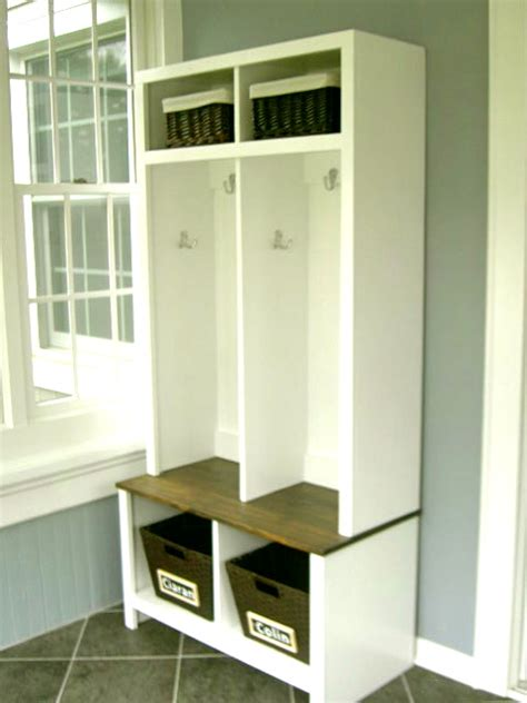 how to build a mudroom bench with cubbies white entry cubbies diy projects