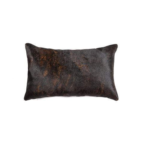 Torino Cowhide Pillow by Torino Chocolate 12 In X 20 In Cowhide Pillow