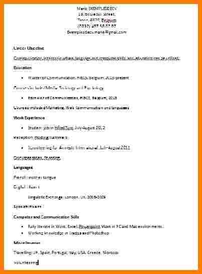 Cv Pour Stage by 15 Exemple De Cv Pour Un Stage Exemple Motivation