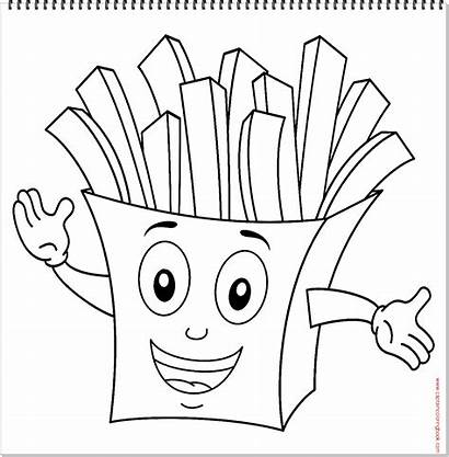 Coloring Fries French Character Pages Characters Drawing