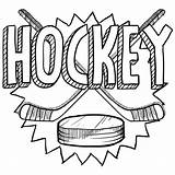 Hockey Coloring Puck Template Pages Stick Sports sketch template