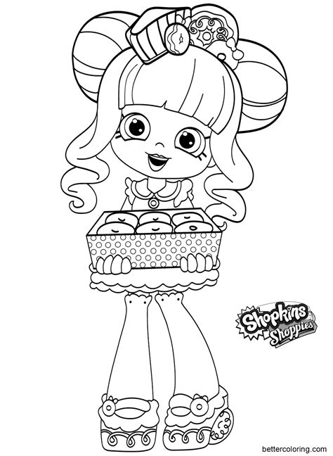 shoppies coloring pages black  white  printable