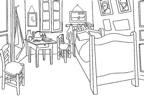 coloriage de chambre de fille dessins de monuments à colorier