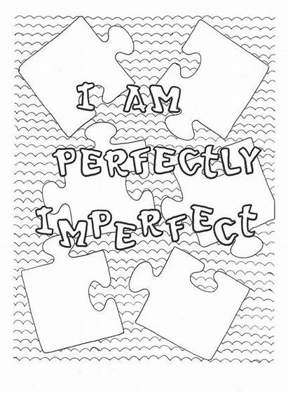 Coloring Pages Am Positive Affirmations Yourself Imperfect