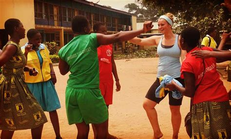 volunteer  ghana coaching sports   physical