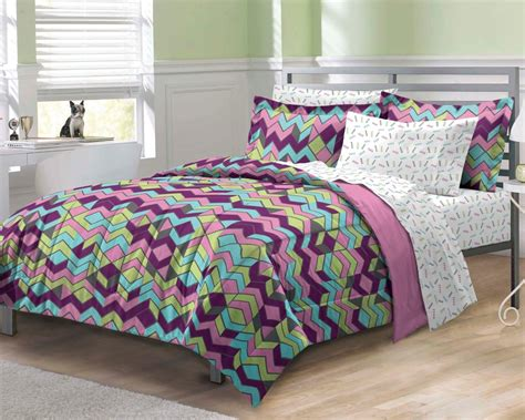 albuquerque zigzag purple teen girls bedding comforter