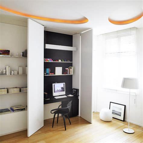 cuisine incorporé 5 astuces déco pour cacher un bureau dans un placard