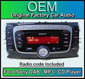 Auto Radio Sony : ford mondeo dab radio car stereo with code ford sony dab cd mp3 player headunit ebay ~ Medecine-chirurgie-esthetiques.com Avis de Voitures