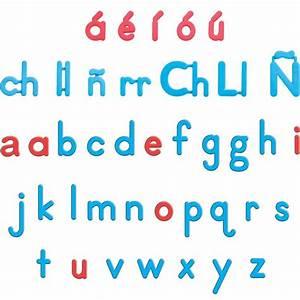 Ezread spanish color coded plastic magnetic letters for Spanish magnetic letters
