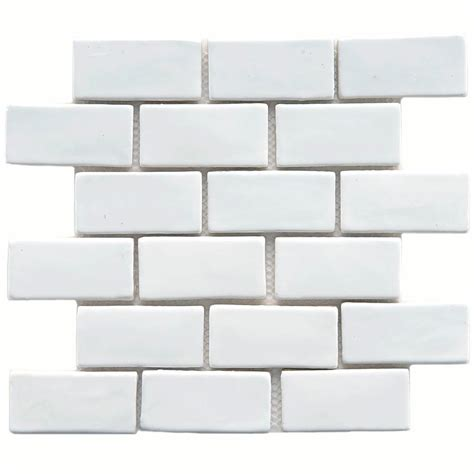merola tile cobble subway white 12 in x 12 in x 13 mm