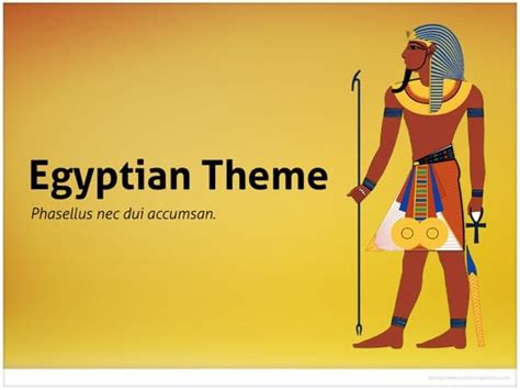 Egypt Templates Powerpoint by Egyptian Powerpoint Template Free