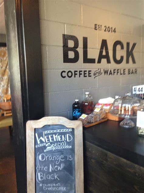 We sat at one of the bars, since it was just two of us. Blonde and Hungry: Black Coffee and Waffle Bar // Minneapolis