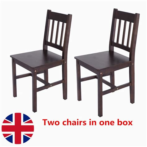 pcs solid pine wooden dining chairs set kitchen home