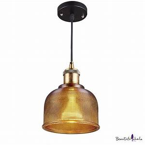 Buy amber colored glass pendant light short size at